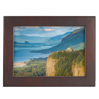 Overlooking The Vista House And The Columbia Keepsake Box