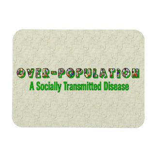 Overpopulation is an STD Rectangular Photo Magnet