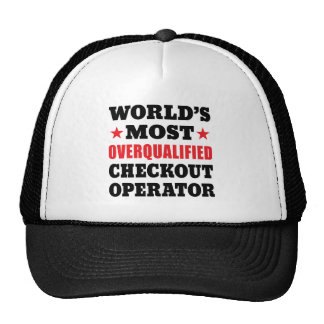 Overqualified Checkout Operator Funny Slogan Cap