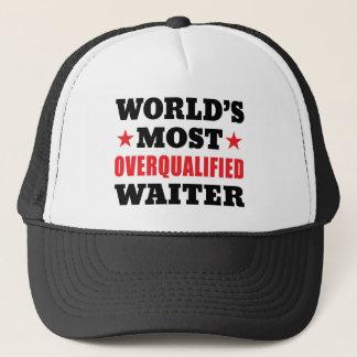Overqualified Waiter Trucker Hat