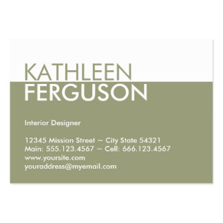 Oversize two tone color block green professional pack of chubby business cards