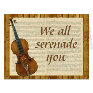 Oversized Serenade from Group, Violin and Music Big Greeting Card