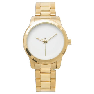 Oversized Unisex Gold Bracelet Watch