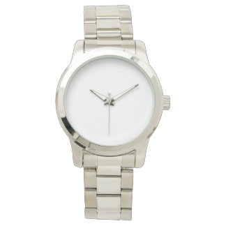 Oversized Unisex Silver Watch