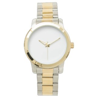 Oversized Unisex Two-Tone Bracelet Watch