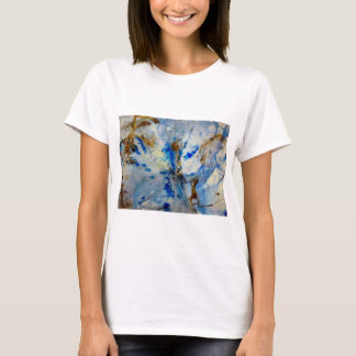 OvertheMoon Art T-shirt Blue, Breathe,  White