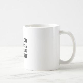 Overthink About It Basic White Mug
