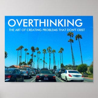 OVERTHINKING Workout Motivation Poster