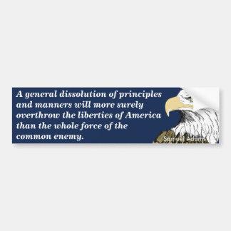 Overthrow of American Liberties (Adams) Bumper Sticker