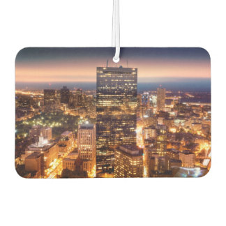 Overview of Boston at night Car Air Freshener