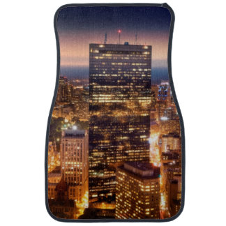 Overview of Boston at night Car Mat