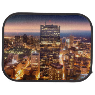 Overview of Boston at night Floor Mat