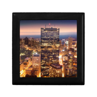 Overview of Boston at night Gift Box