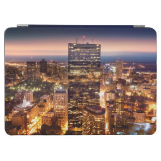 Overview of Boston at night iPad Air Cover