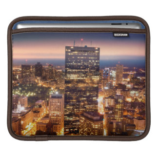 Overview of Boston at night iPad Sleeve