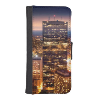 Overview of Boston at night iPhone SE/5/5s Wallet Case