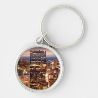 Overview of Boston at night Key Ring