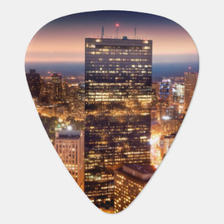Overview of Boston at night Plectrum