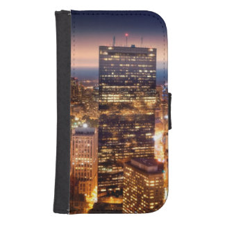Overview of Boston at night Samsung S4 Wallet Case