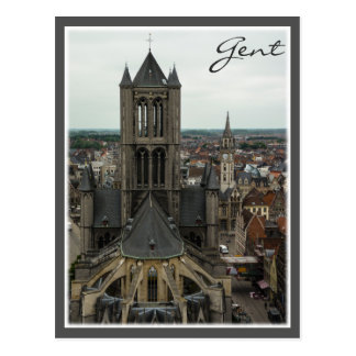 Overview of Gent Postcard