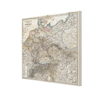 Overview of German Empire Canvas Print