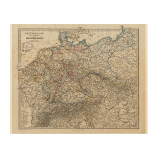Overview of German Empire Wood Print