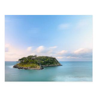 Overview of San Nicolas island, long exposure. Postcard