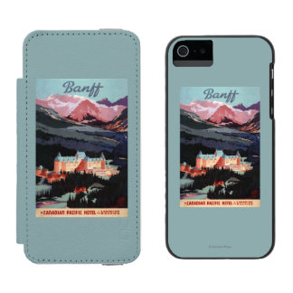 Overview of the Banff Springs Hotel Poster Incipio Watson™ iPhone 5 Wallet Case