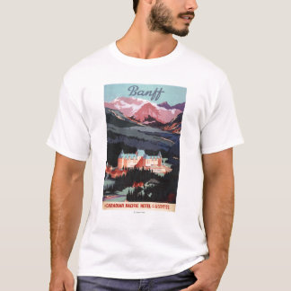 Overview of the Banff Springs Hotel Poster T-Shirt