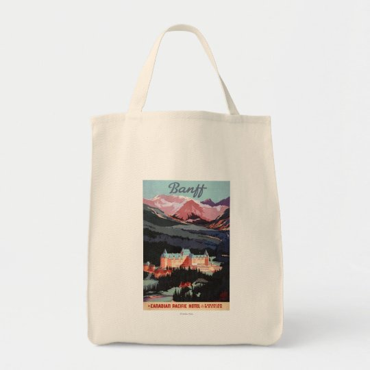 Overview of the Banff Springs Hotel Poster Tote