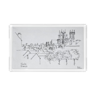 Overview of the City | Nantes, France Acrylic Tray