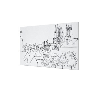 Overview of the City | Nantes, France Canvas Print