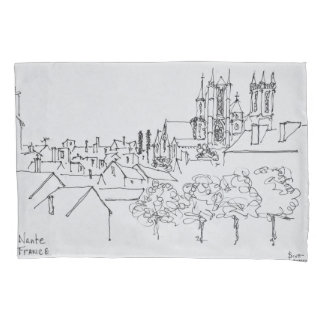 Overview of the City | Nantes, France Pillowcase