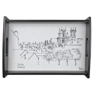 Overview of the City | Nantes, France Serving Tray