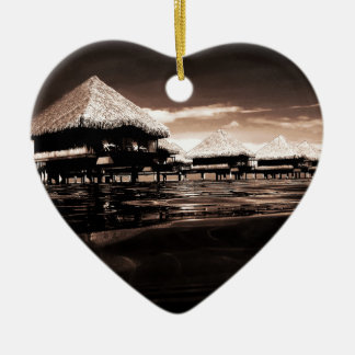 Overwater Bungalows Christmas Ornament