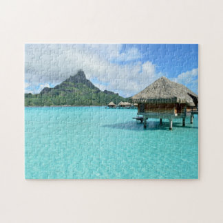 Overwater resort on Bora Bora jigsaw puzzle