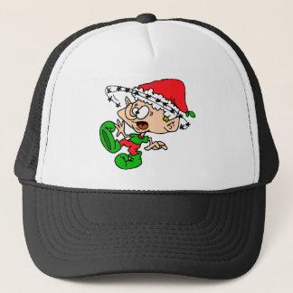 Overwhelmed Elf Trucker Hat