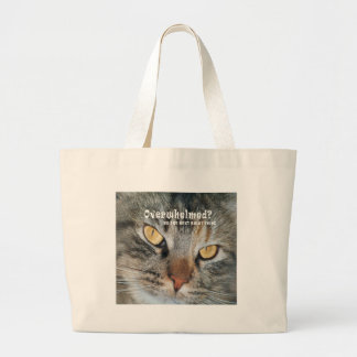 overwhelmed Nellie Large Tote Bag