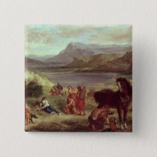 Ovid among the Scythians, 1859 15 Cm Square Badge