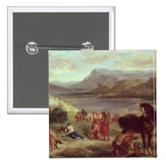 Ovid among the Scythians, 1859 15 Cm Square Badge