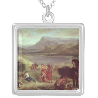 Ovid among the Scythians, 1859 Silver Plated Necklace