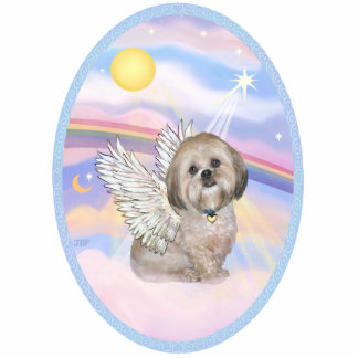 OvOrn-Clouds - Lhasa Apso 11 Standing Photo Sculpture