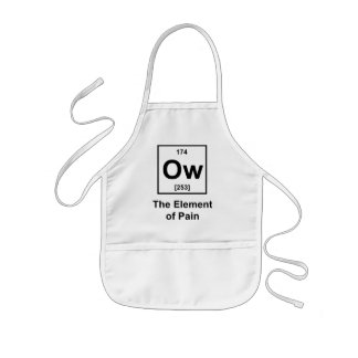 Ow, The Element of Pain Kids Apron