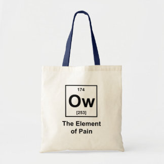 Ow, The Element of Pain Budget Tote Bag