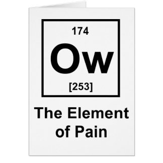 Ow, The Element of Pain Greeting Card