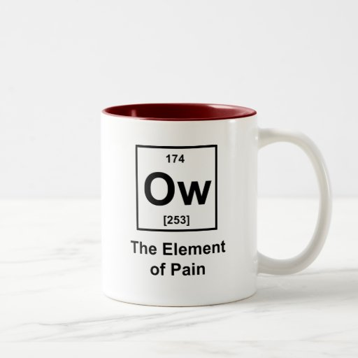 Ow, The Element of Pain Mugs