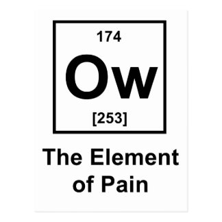 Ow, The Element of Pain Postcard