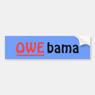 OWE-bama Sticker, Blue Bumper Sticker