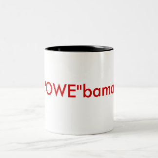 """OWE""bama Two-Tone Mug"