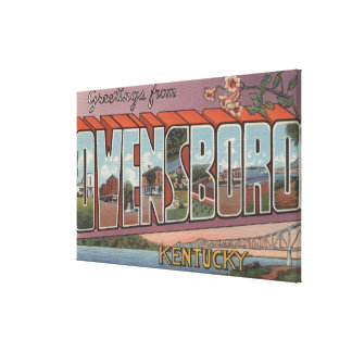 Owensboro, Kentucky - Large Letter Scenes Canvas Print